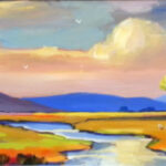 S2792 Landscape Oil on Board Anton Gericke 30cm x 90cm