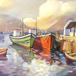 S3073 Harbour Hout Bay Oil on Board Anton Gericke 60cm x 90cm