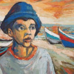 S5046 Fisherman Oil on canvas Itai Vangani 71cm x 56cm