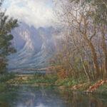S0732, Cape Land scape, Oil on Board, C.Van der Leek, 100cm x 075cm,