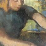 S1016 Pianist Oil on Canvas 33cm x 44cm