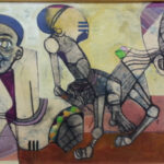 S1455 Figure Study Oil on Board S.Mahlangu 60cmx36cm R18,000.00