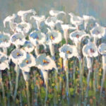 S2741 Lillies in a field Oil on Board 60cm x 90cm
