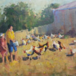 S2763 Farm scene Oil on Canvas 30cm x 40cm