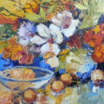 S2823 Flower study Oil on Canvas 100cm x 100cm