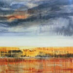 S2826, Abstract Landscape, Oil on Canvas, Lynette ten Krooden, 2m x 1,2m
