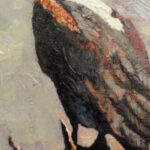 S2886 Fish Eagle Oil on Canvas 19cm x 27cm