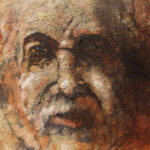 S2909 Portrait Oil on Board 39cm x 39cm