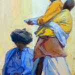 S2951 Xhosa Women Oil on Canvas Pasted on Board 75cm x 60cm