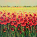 S2954 Poppy Field Oil on Canvas 40cm x 50cm