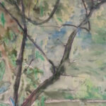 S2955 Forest Scene Watercolour 53cm x 36cm