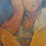 S2975 Figure study Oil on Board 58cm x 50cm