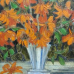 S2981 Coral Tree Oil on Canvas 76cm x 76cm
