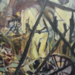 S2985 Bicycle Shop Oil on Board 62cm x 78cm