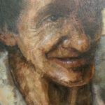 S3030 Face study Oil on Board Kobus Moller 60cm x 39cm 15,000.00