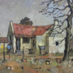 S3036 Farm House Oil on Board C.Theys 30cm x 40cm
