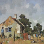 S3037 Rural scene Oil on Board C.Theys 30cm x 35cm