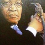 "S3049 Zuma "" The Little Birtd Told Me "" Oil on Canvas Fuz Caforio, 40cm x 20cm"