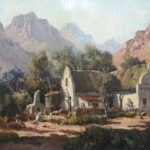 S3054 Cape Dutch House Oil on Canvas T.DeJongh 35cm x 50cm 55,000.00