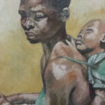 S3056 Figure Study Oil on Canvas G.Pemba 36cm x40cm 175,000.00