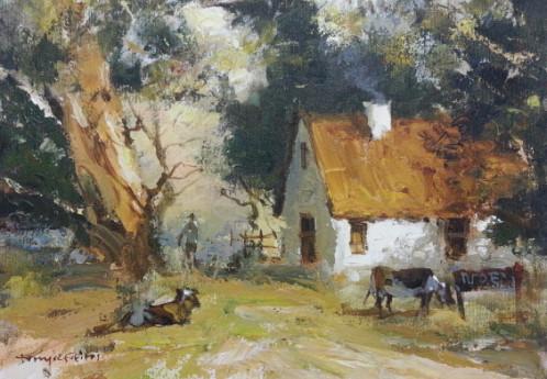 S3059 Cape Cottage Oil on Canvas Tony Defreitas 30cmx40cm 4,500.00