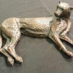 S3084 Resting Cheetah 4/15 Bronze Sculpture F.Dewet