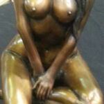 S3112 Sitting Nude Bronze Sculpture Brandon Borgelt R36,000.00