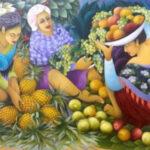 Fruit Seller Oil on Canvas 270cmx160cm