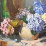 S3227 Flowers study, Oil on Board, 40cm x 50cm,