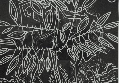 S3323a Screen Print Embossed Ltd Ed Print Battis A4