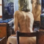 S3371 Nude Study Oil on Canvas Marie Vermuelen Breedt 45cmx61cm