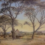 S3432 Tree Scene Oil on Canvas Eric Mayer 37cmx57cm