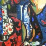 S3468, Girl sitting with fruit, Oil on Canvas, Hennie Niemann Jnr, 60cmx90cm
