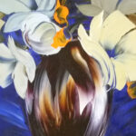 S3518 Flower Study Oil on Canvas Royalene Griffiths 80cmx100cm