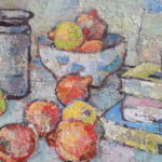 S3584 Still Life Oil on Board Gregoire Boonzaire 55cmx44cm