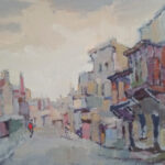 S3585 District Six Oil on Board Gregoire Boonzaire 41cmx52cm