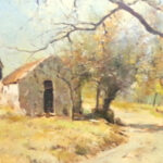 S3616 Farmhouse Oil on Canvas E. Boyley 59cm x 44cm