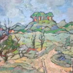 S3666 Landscape Oil on Board Gregoire Boonzaire 55cmx40cm