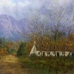 S3763C Landscape & Cottage Oil on Canvas Casey Vd Leek 60cmx90cm