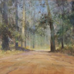 S3860 Forest Scene Oil on Board C.Tugwell 75cm x 50cm