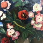S3945 Flower Study Oil on Board Domsaitis Prana 56cmx61cm