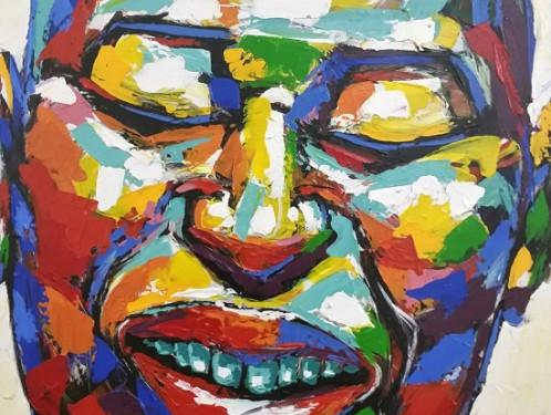 S3978 Ponder Oil on Canvas Tshidzo Mangena 78cmx102cm