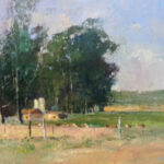 S4001 Midlands with Cattle Oil on Canvas E.Boyley 50cm x 40cm