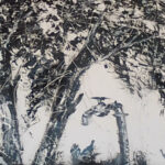 SMlangeni Tree Scene Oi on paper 1m x 15m
