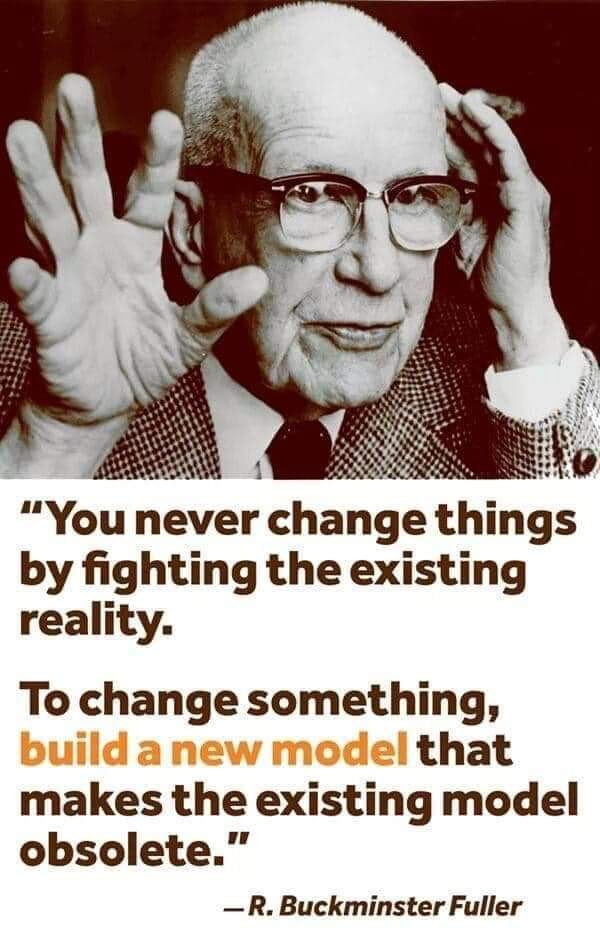 To change something build a new model that makes the existing obsolete