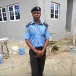 He was beaten to death by this man CSP Eyoh at Warri DeltaState