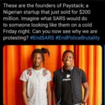 #ENDSARS Paystack Nigeria startup founders