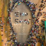 #ENDSARS Protestors form the name END SARS