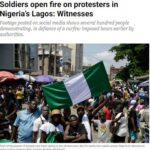 Soldiers open fire on protesters in Nigeria's Lagos- Witnesses0