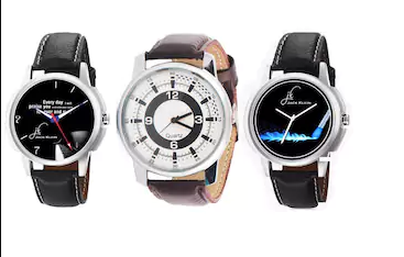 Jack Klein Combo of 3 Different Strap Analog Wrist Watches at Rs.99 only